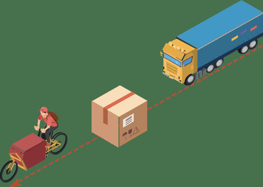 Camion Paquet Velo Cargo